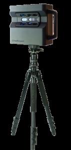 Close up on black matterport pro 2 camera for VR 360 virtual tour capture