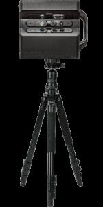 Matterport 360 degree virtual tour camera locked into a tripod