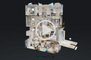 Multi floor home using a 3d virtual tour
