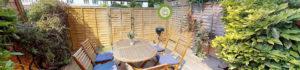 360 virtual tour garden snapshot header for a london house share