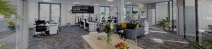 landscape office floor shot with Matterport